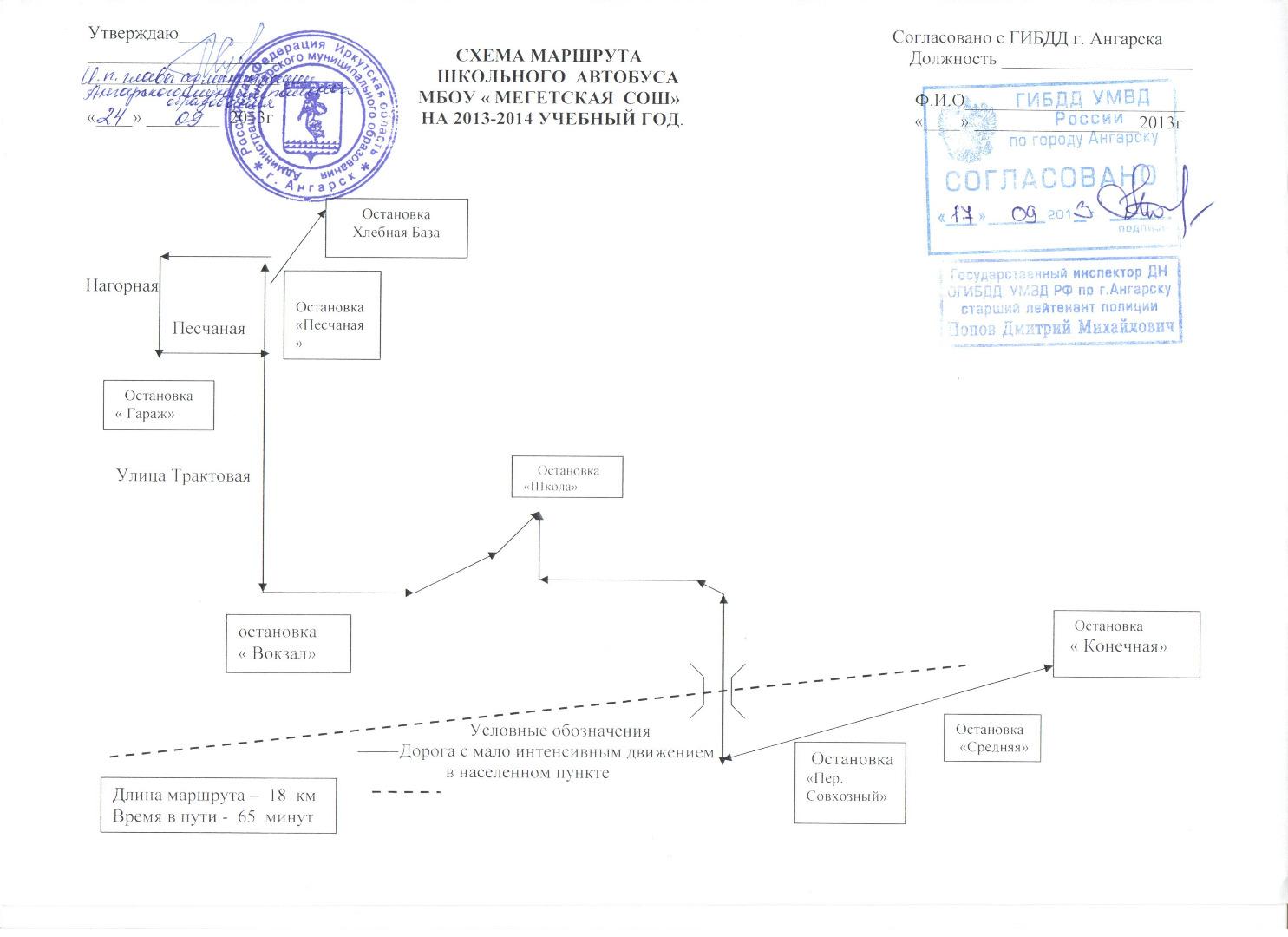 Маршрут движения сторожа схема